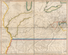 Mid-Atlantic, South, Kentucky, Tennessee, Southeast, Virginia, Midwest, Illinois, Indiana, Ohio and Missouri Map By Thomas Hutchins