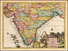 India Map By Pieter van der Aa