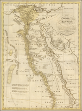 Egypt Map By Franz Ludwig Gussefeld