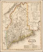 Maine Map By Joseph Meyer