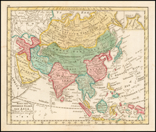 Asia Map By Jan Barend Elwe