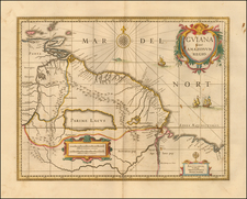 Brazil, Guianas & Suriname and Venezuela Map By Peter Schenk  &  Gerard Valk