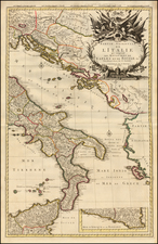 Southern Italy and Sicily Map By Pieter Mortier