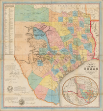 Texas and Southwest Map By Jacob De Cordova