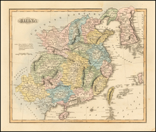 China and Korea Map By Fielding Lucas Jr.