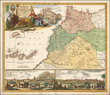 North Africa Map By Johann Christoph Homann