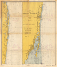 Florida Map By U.S. Coast & Geodetic Survey