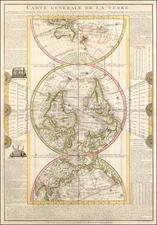 World, Polar Maps, Curiosities and Celestial Maps Map By Louis Flecheux