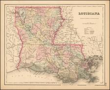 Colton's Louisiana By Joseph Hutchins Colton