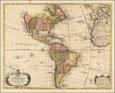 America Map By Eugene Henri Fricx