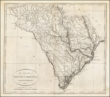 South Carolina Map By John Reid