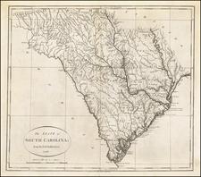 South Carolina Map By John Reid