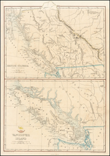 Pacific Northwest and Canada Map By Edward Weller