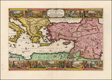 Greece, Mediterranean, Holy Land and Turkey & Asia Minor Map By Nicolaes Visscher I
