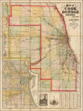 Illinois Map By Rand McNally & Company