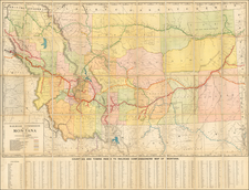 Montana Map By Rand McNally & Company / Montana Railroad Commission