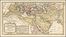 Mediterranean, Middle East, Arabian Peninsula, Persia and North Africa Map By Johann Matthaus Haas