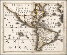 North America, South America and America Map By Franz Wagner