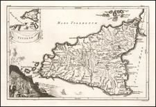 Sicily Map By Isaac Basire