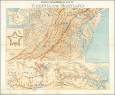 Washington, D.C., Maryland and Virginia Map By J. Calvin Smith / Rae Smith