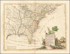 United States Map By Antonio Zatta