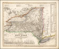 Neueste Karte von New York . . . 1844 By Joseph Meyer