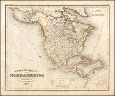 Stromgebiet von Nordamerica Nach den besten Quellen entworfen und gezeichnt. Vom Hauptm. Radefeld 1847 By Joseph Meyer