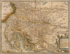 Croatia & Slovenia and Bosnia & Herzegovina Map By Abraham Ortelius