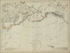 Polar Maps, Alaska, Canada, China, Japan, Korea, Pacific and Russia in Asia Map By Christian Gottlieb Reichard