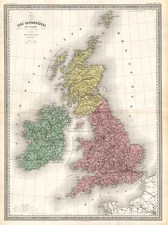 Europe and British Isles Map By Adolphe Hippolyte Dufour
