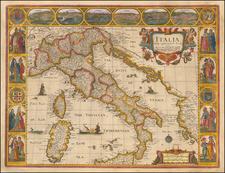 Italy Map By John Speed