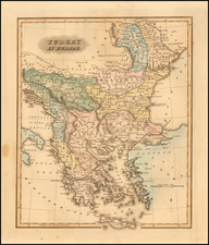 Greece and Turkey & Asia Minor Map By Fielding Lucas Jr.