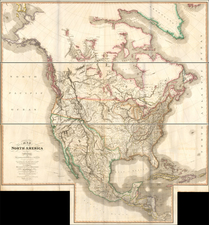 United States, North America and Canada Map By James Wyld
