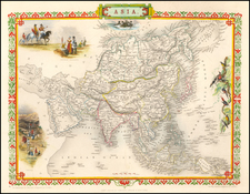 Asia Map By John Tallis