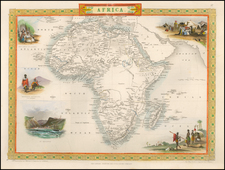 Africa Map By John Tallis