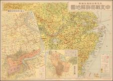 China and World War II Map By OsakaMainichiShimbun