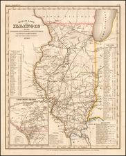 Illinois Map By Joseph Meyer