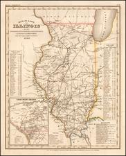Illinois Map By Joseph Meyer