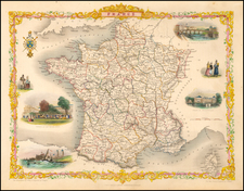 France Map By John Tallis