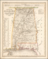 Alabama Map By Joseph Meyer  &  Carl Radefeld