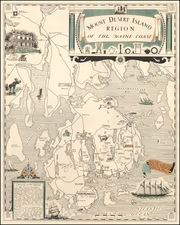 Maine and Pictorial Maps Map By Luther S. Phillips
