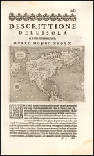 Mondo Nuovo (earliest obtainable map of North America) By Tomasso Porcacchi