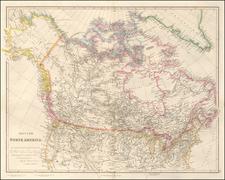 Plains, Rocky Mountains, Alaska, Canada and Western Canada Map By John Arrowsmith