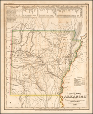 Arkansas Map By Joseph Meyer  &  Carl Radefeld
