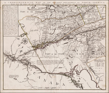 New England, Massachusetts, New Hampshire, Vermont, New York State and Canada Map By Bernard Romans / Mortier, Covens & Zoon
