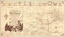 Oklahoma & Indian Territory Map By H. Z. Sanders