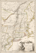 New England, New York State and Mid-Atlantic Map By Esnauts & Rapilly