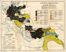 Europe, Europe, Germany, Middle East, Holy Land and Turkey & Asia Minor Map By Edward Stanford