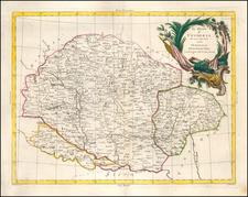 Hungary Map By Antonio Zatta