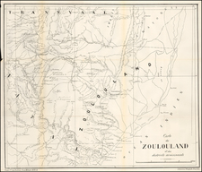 South Africa Map By Revue Militaire